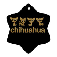 Chihuahua Ornament (snowflake)
