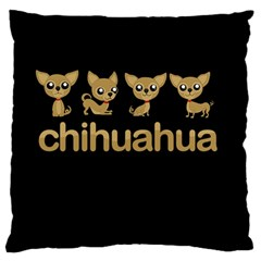 Chihuahua Large Cushion Case (two Sides)