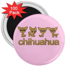 Chihuahua 3  Magnets (100 Pack)