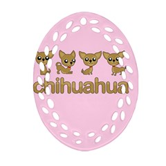 Chihuahua Oval Filigree Ornament (two Sides)