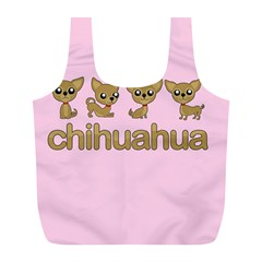 Chihuahua Full Print Recycle Bags (l)