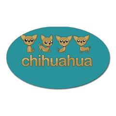 Chihuahua Oval Magnet