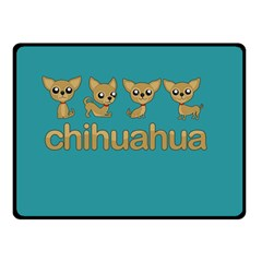 Chihuahua Double Sided Fleece Blanket (small)