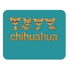 Chihuahua Double Sided Flano Blanket (large)