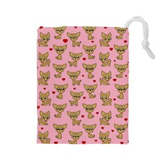 Chihuahua Pattern Drawstring Pouches (large)