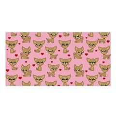 Chihuahua Pattern Satin Shawl