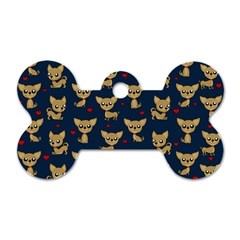 Chihuahua Pattern Dog Tag Bone (two Sides)