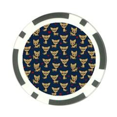 Chihuahua Pattern Poker Chip Card Guard (10 Pack)