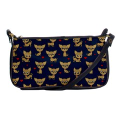 Chihuahua Pattern Shoulder Clutch Bags