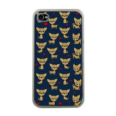 Chihuahua Pattern Apple Iphone 4 Case (clear)