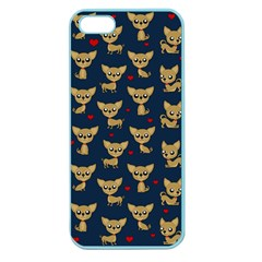 Chihuahua Pattern Apple Seamless Iphone 5 Case (color)