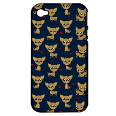 Chihuahua Pattern Apple Iphone 4/4s Hardshell Case (pc+silicone)