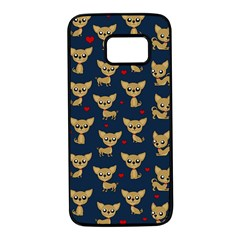 Chihuahua Pattern Samsung Galaxy S7 Black Seamless Case