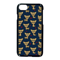 Chihuahua Pattern Apple Iphone 7 Seamless Case (black)