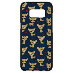 Chihuahua Pattern Samsung Galaxy S8 Black Seamless Case