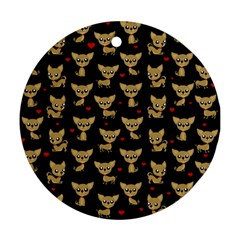 Chihuahua Pattern Ornament (round)