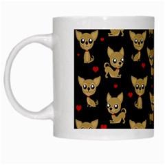 Chihuahua Pattern White Mugs