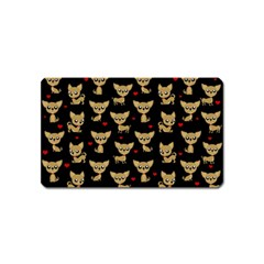 Chihuahua Pattern Magnet (name Card)