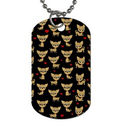 Chihuahua Pattern Dog Tag (one Side)