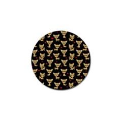 Chihuahua Pattern Golf Ball Marker