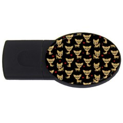 Chihuahua Pattern Usb Flash Drive Oval (2 Gb)