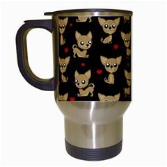 Chihuahua Pattern Travel Mugs (white)
