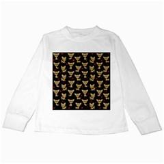 Chihuahua Pattern Kids Long Sleeve T Shirts