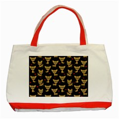 Chihuahua Pattern Classic Tote Bag (red)