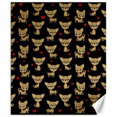Chihuahua Pattern Canvas 20  X 24