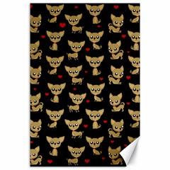 Chihuahua Pattern Canvas 24  X 36