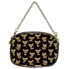 Chihuahua Pattern Chain Purses (one Side)