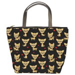Chihuahua pattern Bucket Bags Front