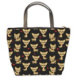 Chihuahua pattern Bucket Bags Back