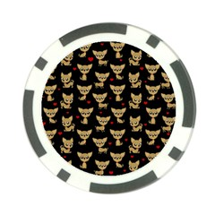Chihuahua Pattern Poker Chip Card Guard (10 Pack)