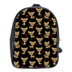 Chihuahua Pattern School Bag (large)