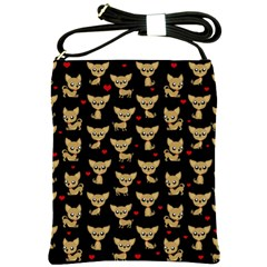 Chihuahua Pattern Shoulder Sling Bags