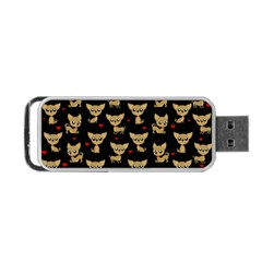 Chihuahua Pattern Portable Usb Flash (two Sides)