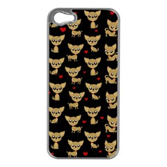 Chihuahua Pattern Apple Iphone 5 Case (silver)
