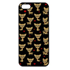 Chihuahua Pattern Apple Iphone 5 Seamless Case (black)