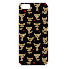 Chihuahua Pattern Apple Iphone 5 Seamless Case (white)