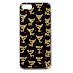 Chihuahua Pattern Apple Seamless Iphone 5 Case (clear)