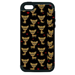Chihuahua Pattern Apple Iphone 5 Hardshell Case (pc+silicone)
