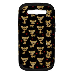 Chihuahua Pattern Samsung Galaxy S Iii Hardshell Case (pc+silicone)