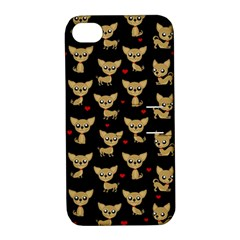 Chihuahua Pattern Apple Iphone 4/4s Hardshell Case With Stand