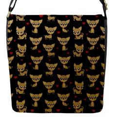 Chihuahua Pattern Flap Messenger Bag (s)
