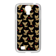 Chihuahua Pattern Samsung Galaxy S4 I9500/ I9505 Case (white)