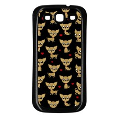 Chihuahua Pattern Samsung Galaxy S3 Back Case (black)