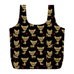 Chihuahua Pattern Full Print Recycle Bags (l)
