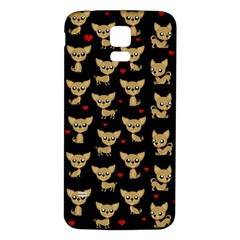 Chihuahua Pattern Samsung Galaxy S5 Back Case (white)