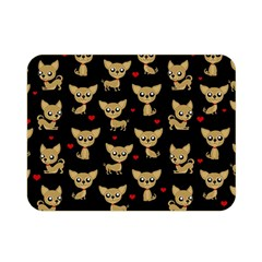Chihuahua Pattern Double Sided Flano Blanket (mini)